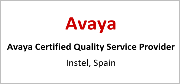 "INSTEL has been certificated as ""Quality Service provider"" by Avaya ..."